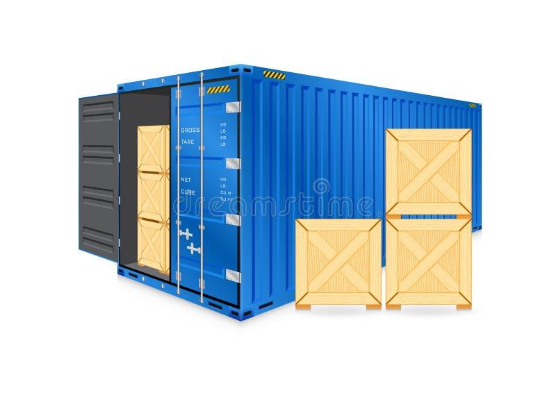 Vettore del contenitore di carico illustrazione vettoriale