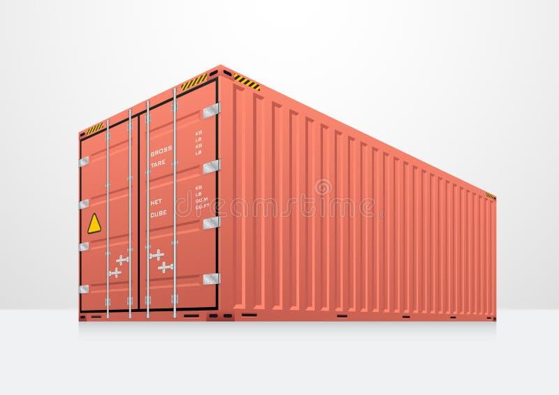 Vettore del contenitore di carico royalty illustrazione gratis