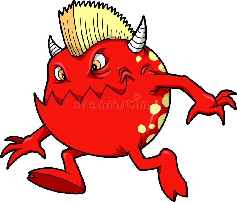 Vettore del diavolo del mostro illustrazione di stock