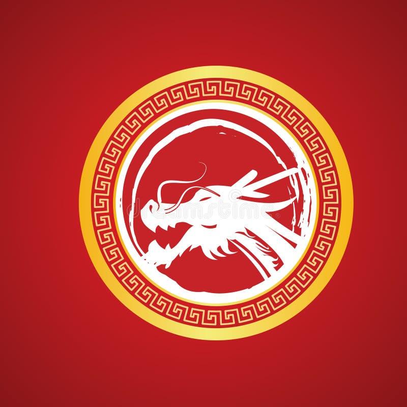 Vettore del drago di Chines royalty illustrazione gratis