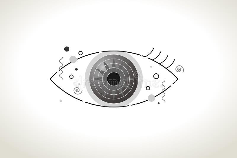 Vettore del fondo astratto moderno dell'occhio royalty illustrazione gratis