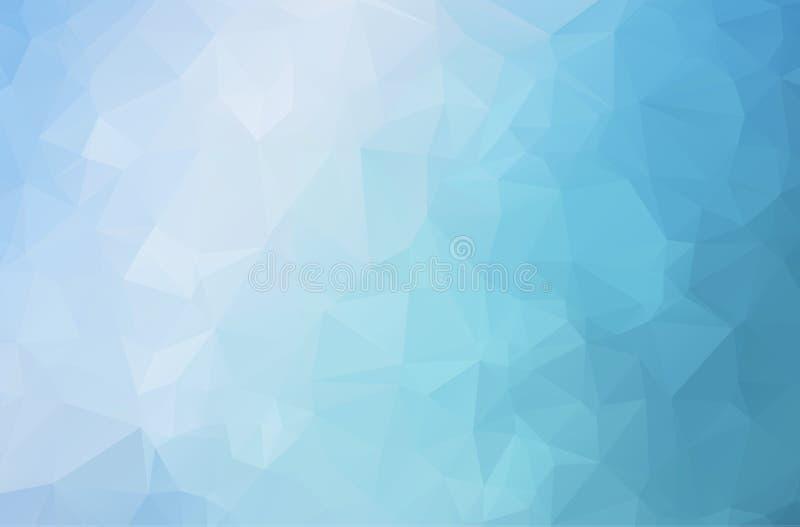 Vettore del fondo dell'estratto del poligono del blu di oceano Fondo scuro astratto del mosaico del triangolo Illustrazione geome royalty illustrazione gratis