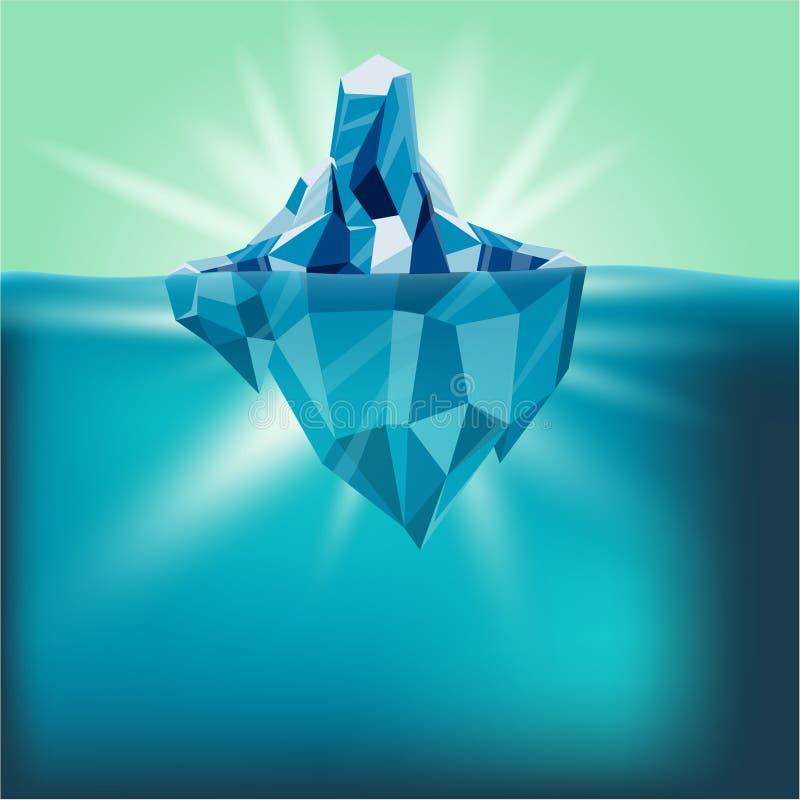 Vettore del fondo della montagna dell'acqua dell'iceberg della neve illustrazione vettoriale