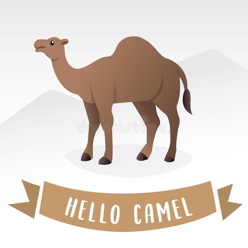 Vettore del fumetto del cammello royalty illustrazione gratis