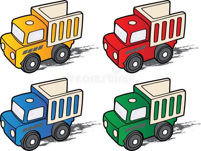 Vettore del fumetto dell'autocarro con cassone ribaltabile illustrazione vettoriale