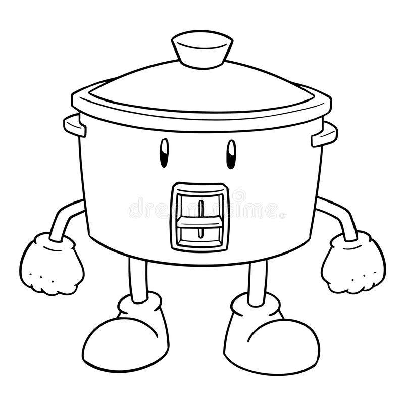 Vettore del fumetto del fornello di riso illustrazione di stock