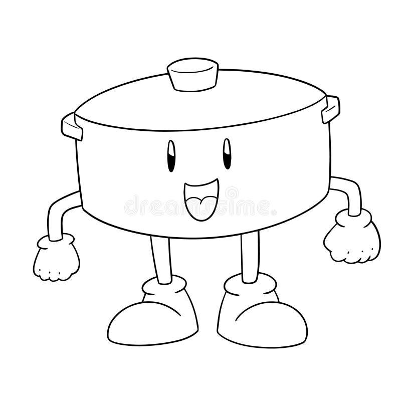 Vettore del fumetto del vaso illustrazione vettoriale