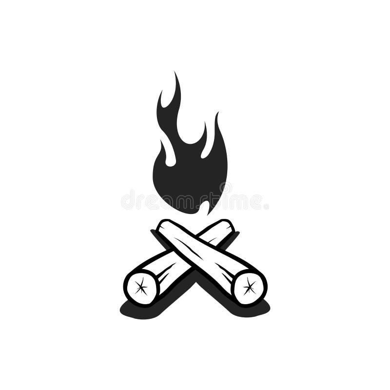 Vettore del fuoco di accampamento fotografia stock libera da diritti