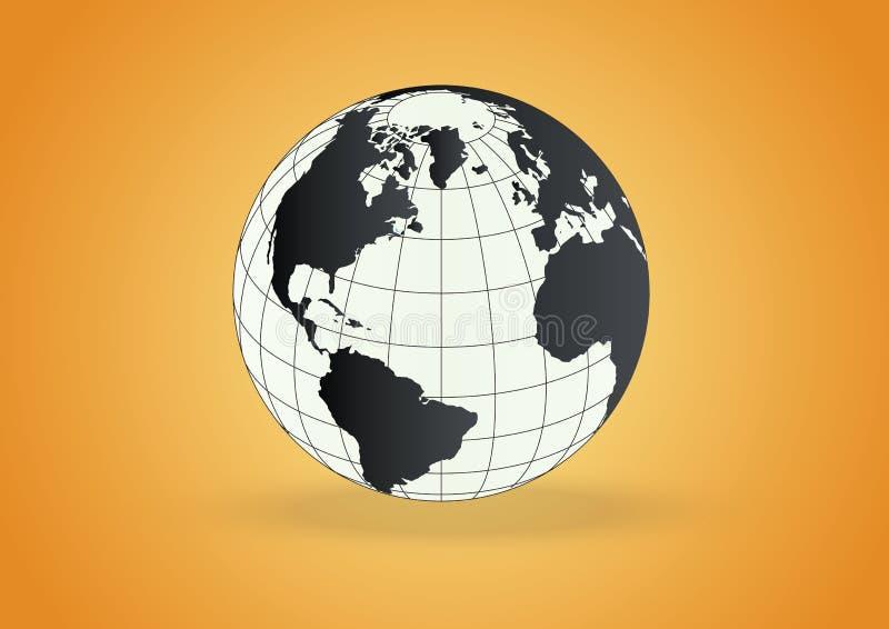 Vettore del globo illustrazione di stock