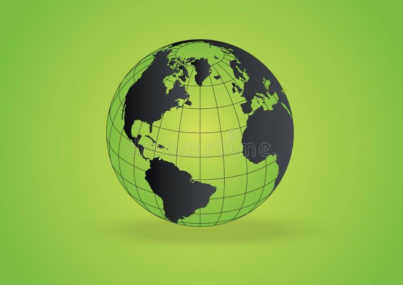 Vettore del globo di Eco illustrazione di stock
