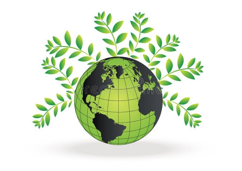 Vettore del globo di Eco royalty illustrazione gratis