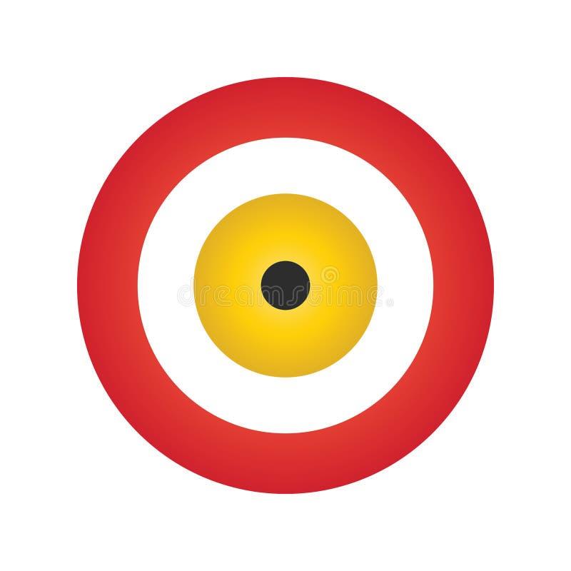 Vettore del malocchio nei colori rossi e gialli illustrazione di stock