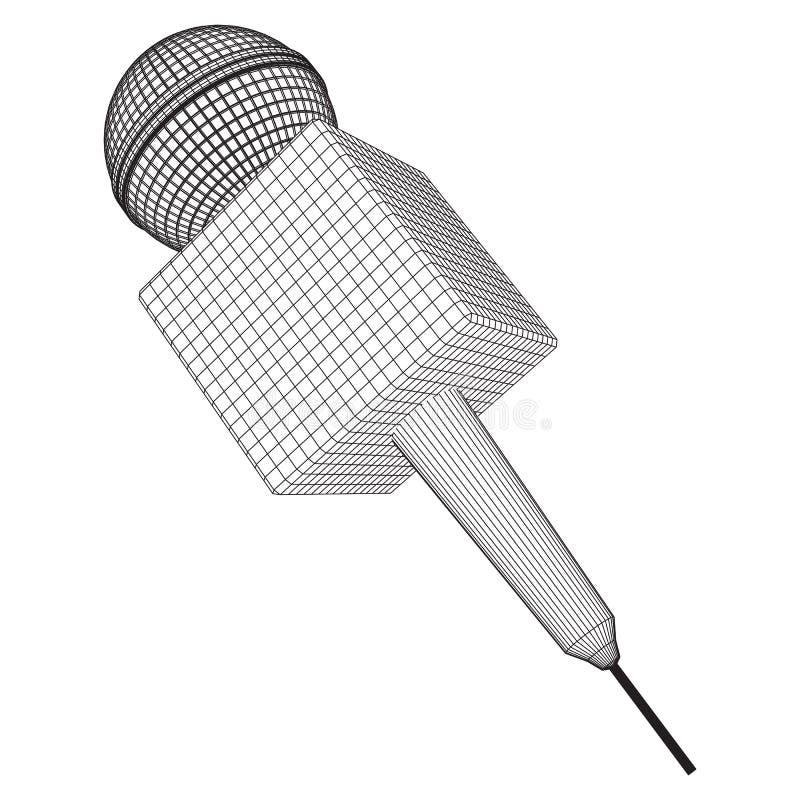 Vettore del microfono Illustrazione di notizie illustrazione di stock