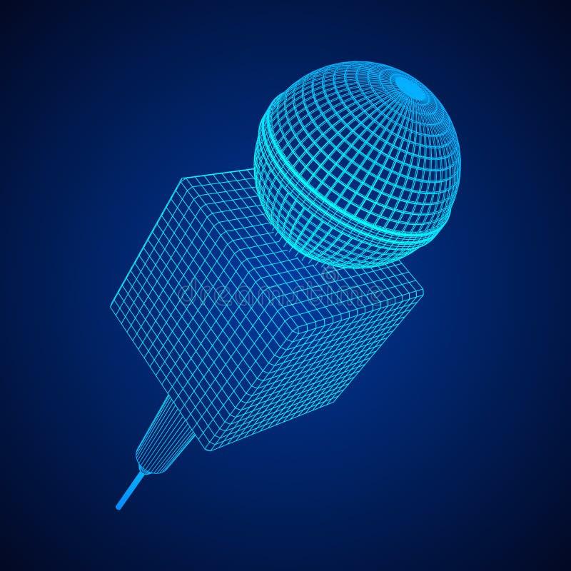 Vettore del microfono Illustrazione di notizie illustrazione vettoriale