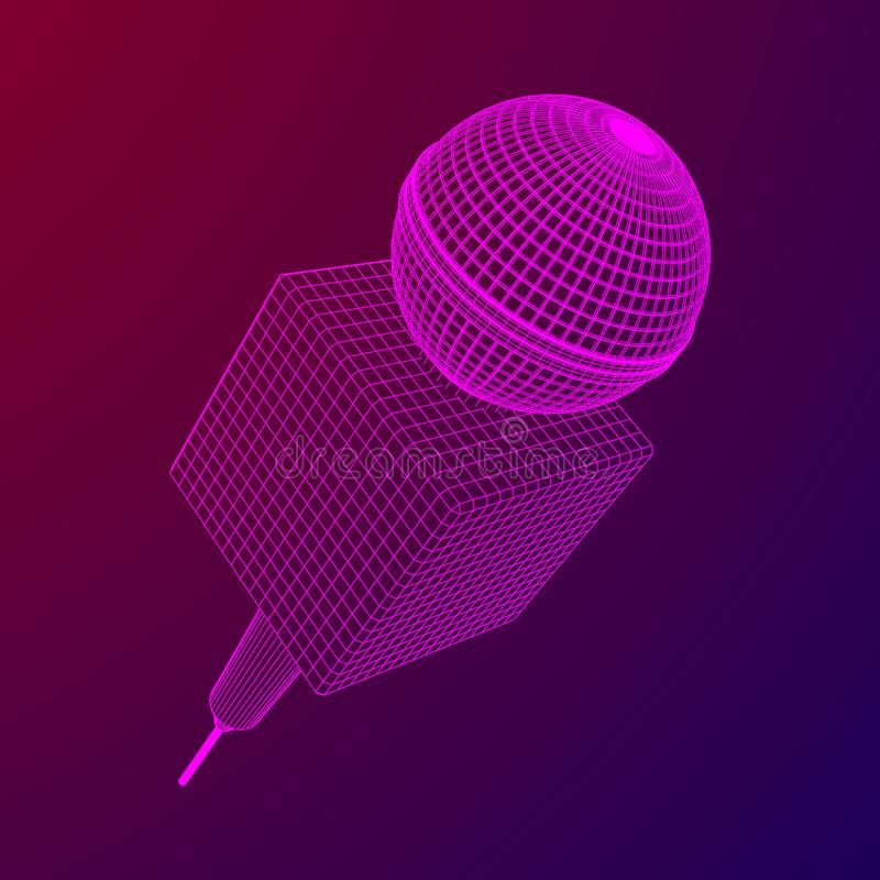 Vettore del microfono Illustrazione di notizie royalty illustrazione gratis