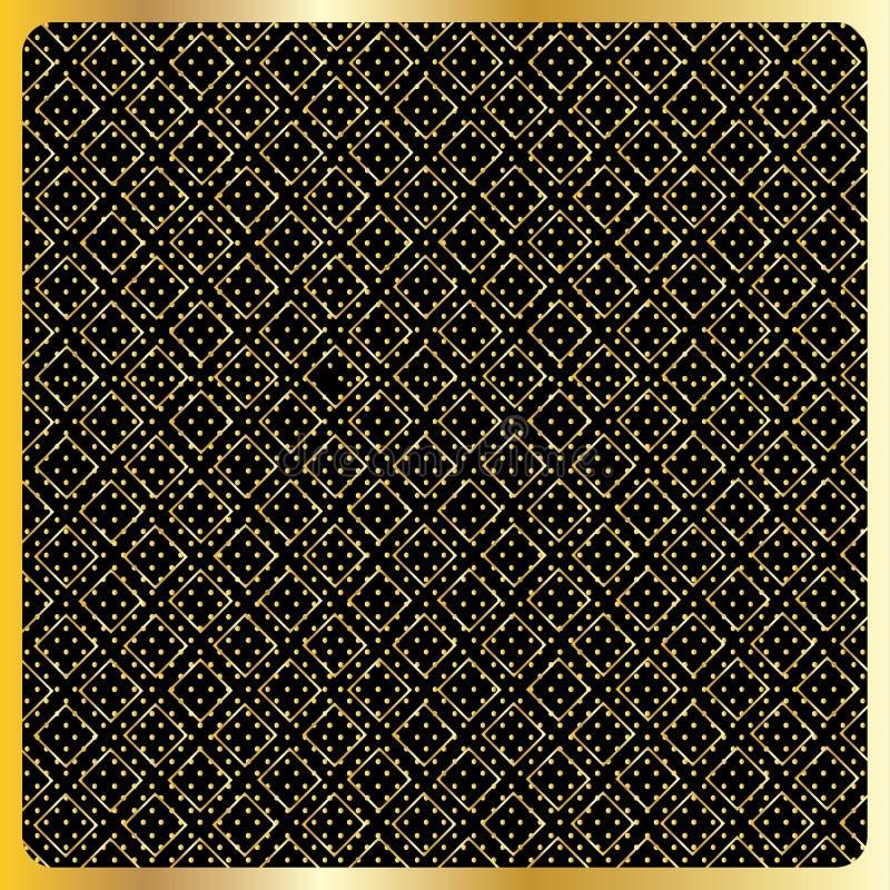 Vettore del modello di Diamond Checkered dell'oro illustrazione vettoriale