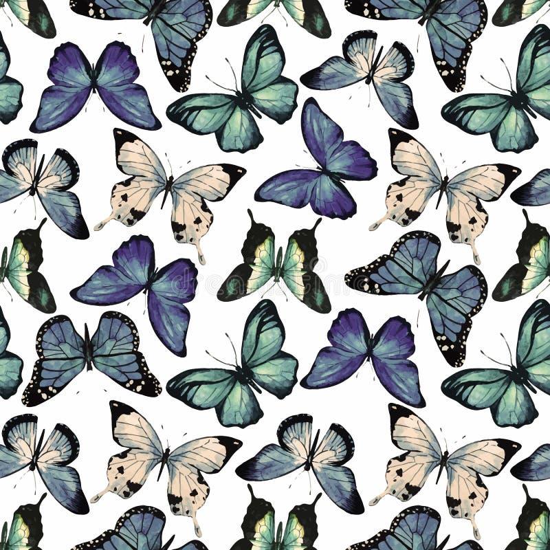 Vettore del modello di farfalla dell'acquerello royalty illustrazione gratis