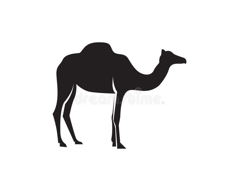 Vettore del modello di logo del cammello illustrazione di stock