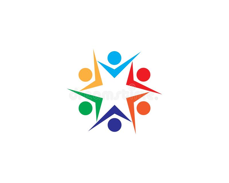 Vettore del modello di logo di cura di comunit? e di adozione illustrazione vettoriale