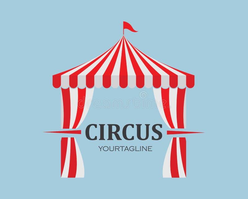 Vettore del modello di logo della tenda di circo illustrazione vettoriale