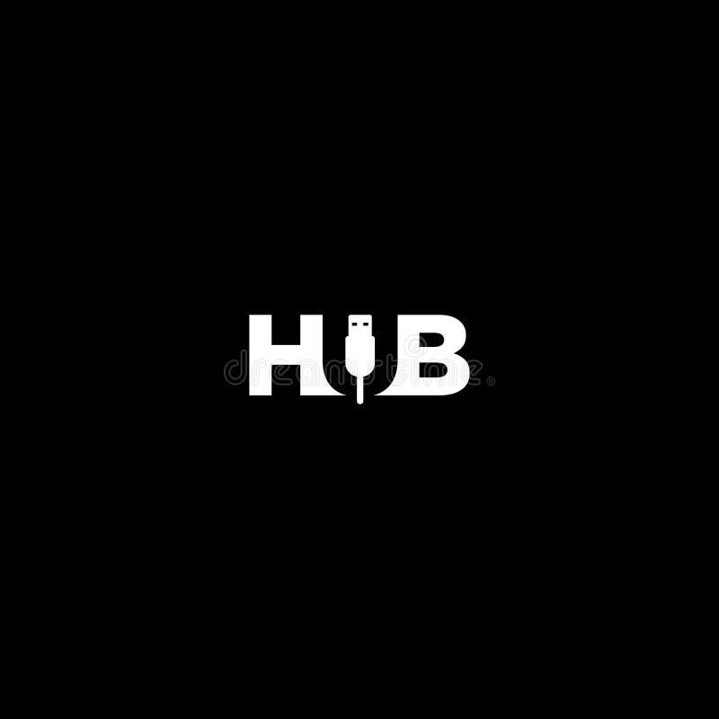 Vettore del modello di logo del hub di USB royalty illustrazione gratis