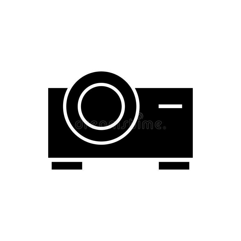 Vettore del modello di progettazione grafica del cinema del proiettore illustrazione vettoriale
