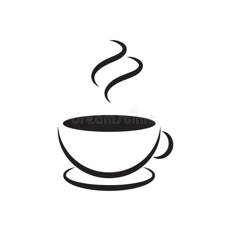 Vettore del modello di progettazione grafica dell'icona del caffè illustrazione vettoriale