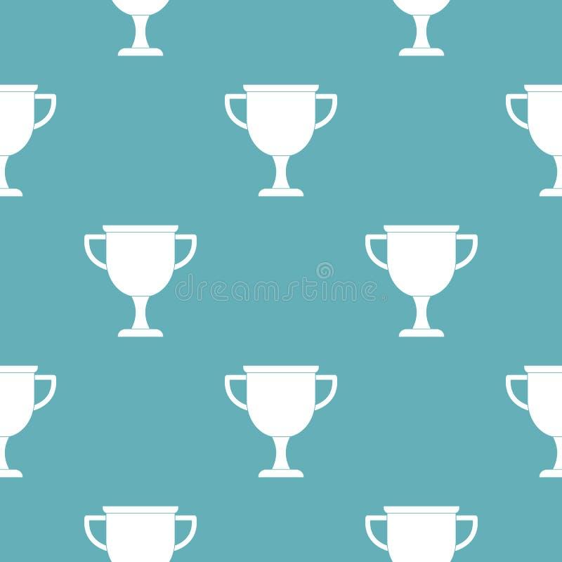 Vettore del modello del premio della tazza senza cuciture royalty illustrazione gratis
