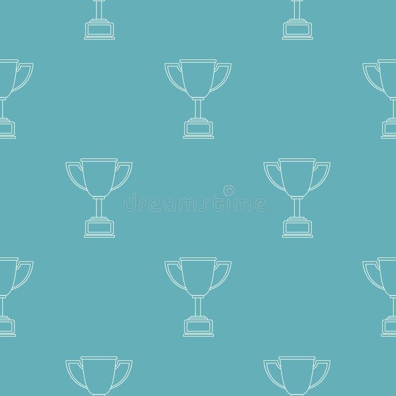 Vettore del modello del premio della tazza senza cuciture illustrazione vettoriale