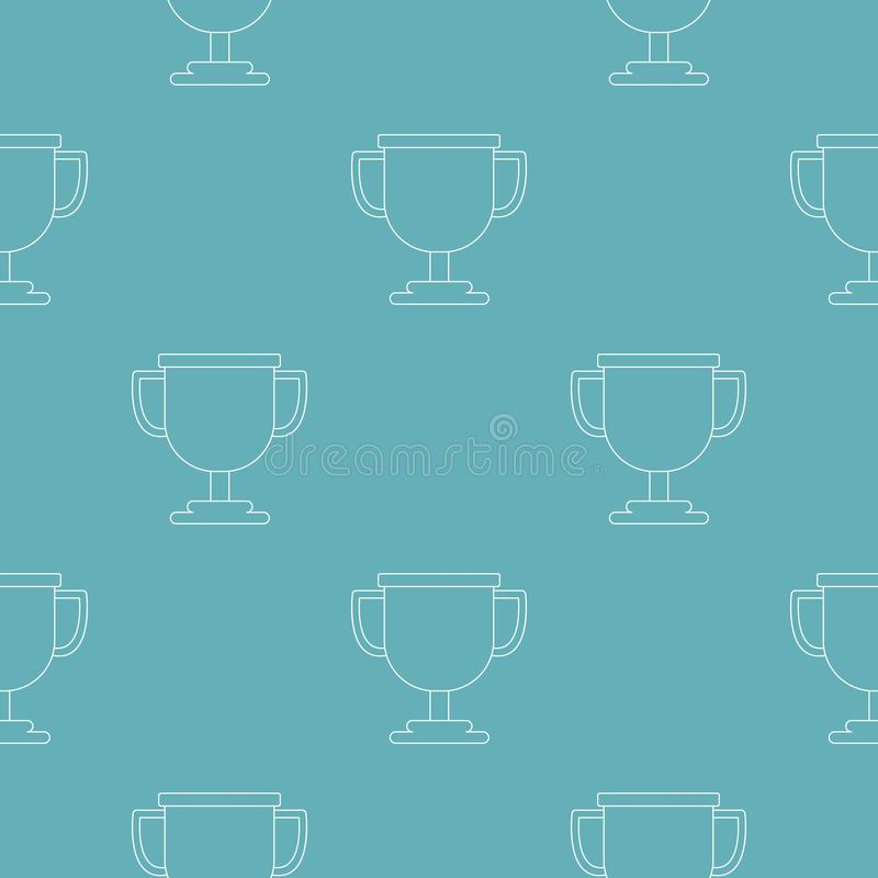 Vettore del modello del premio della tazza senza cuciture illustrazione di stock