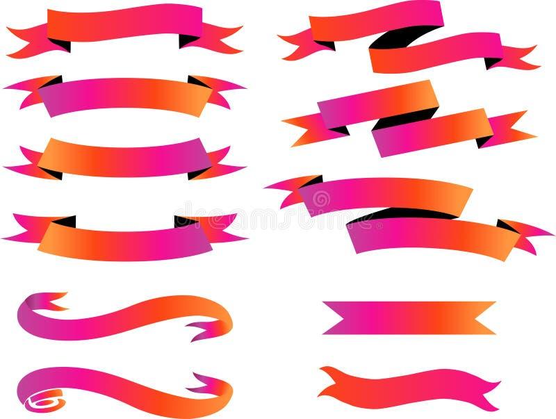 Vettore del nastro dell'insegna dell'etichetta dell'etichetta di Duotones illustrazione vettoriale