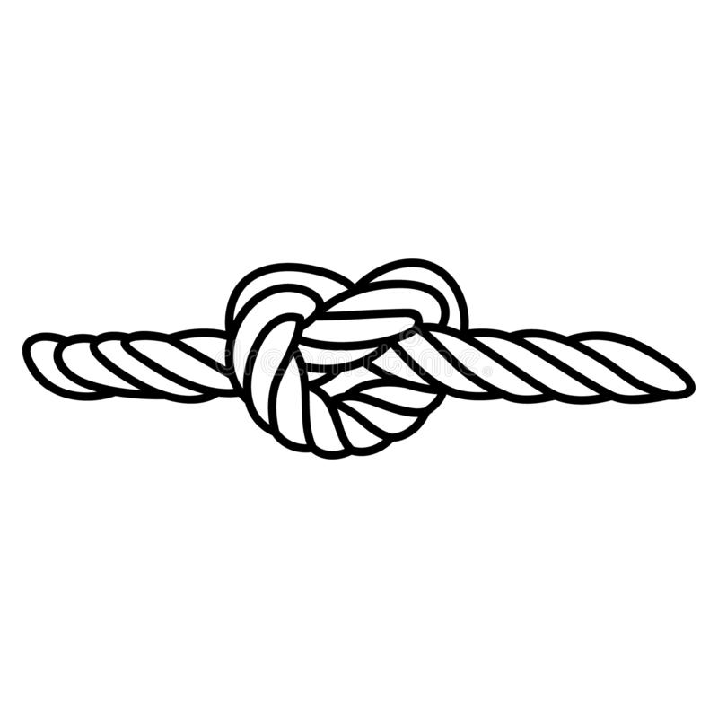 Vettore del nodo della corda, disegnato a mano, vettore, ENV, logo, icona, crafteroks, illustrazione della siluetta per gli usi d royalty illustrazione gratis