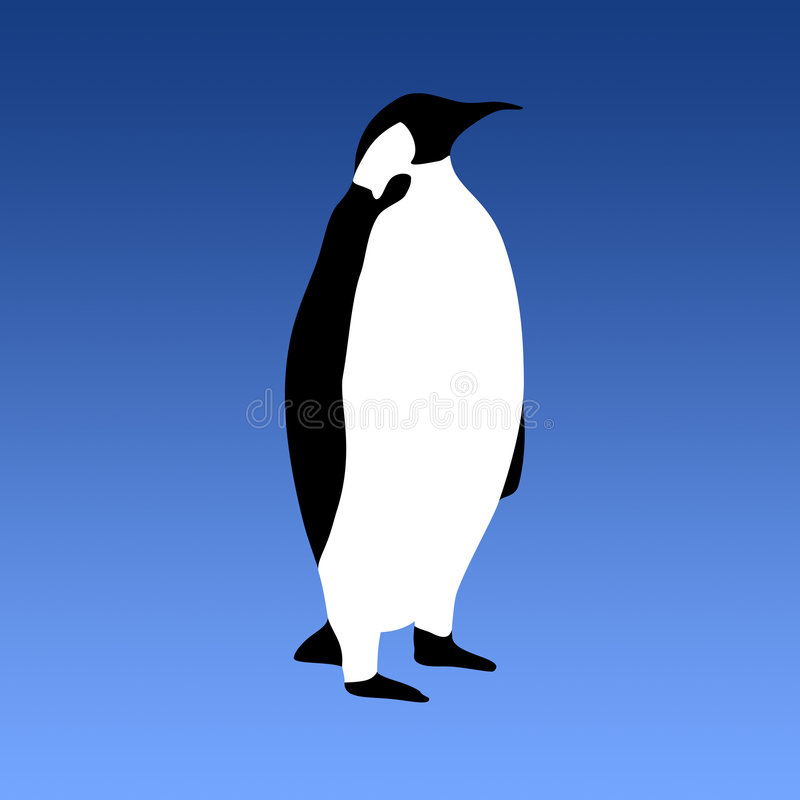 Vettore del pinguino royalty illustrazione gratis