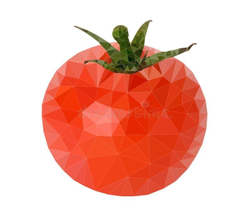 Vettore del poligono del pomodoro illustrazione vettoriale