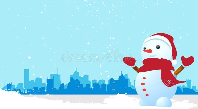 Vettore del pupazzo di neve royalty illustrazione gratis