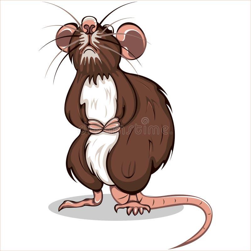 Vettore del ratto di Brown royalty illustrazione gratis