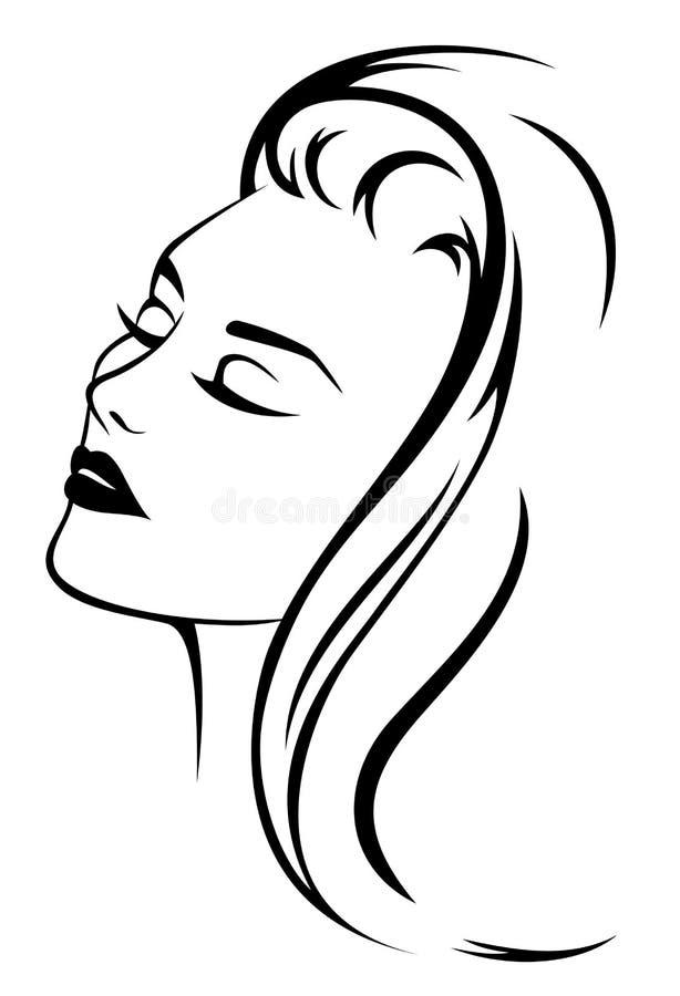 Vettore del ritratto di bellezza illustrazione vettoriale