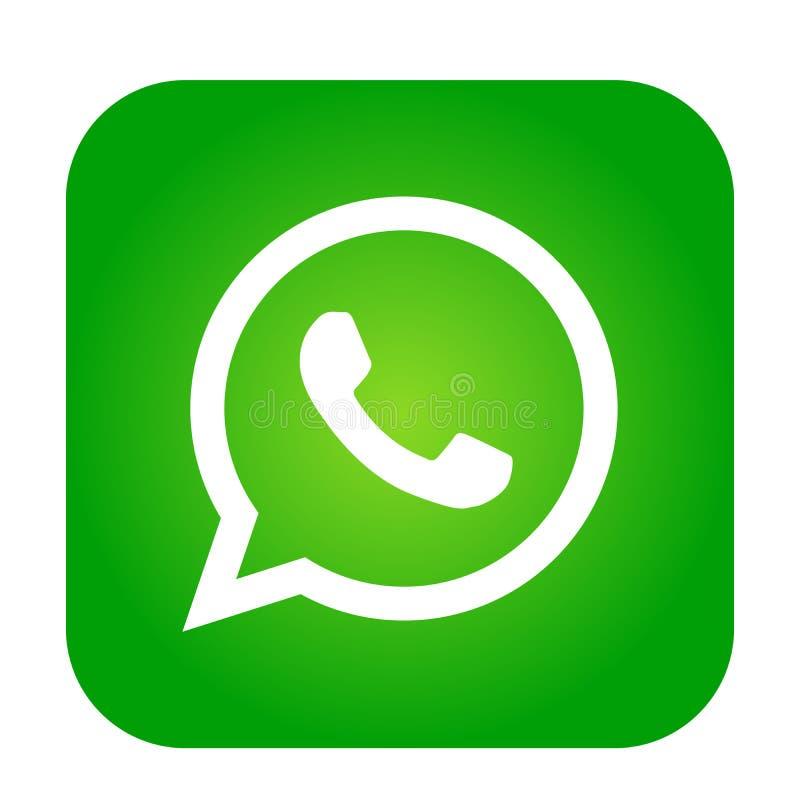 Vettore Del Segno Dell'elemento Di Logo Dell'icona Di WhatsApp in App Mobile Verde Su Fondo Bianco Illustrazione Vettoriale - Illustrazione di arancione, segno: 139246467