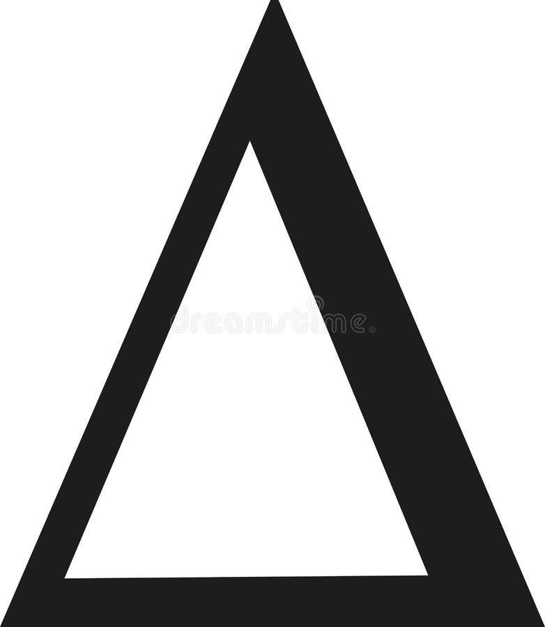 Vettore del segno di delta illustrazione di stock