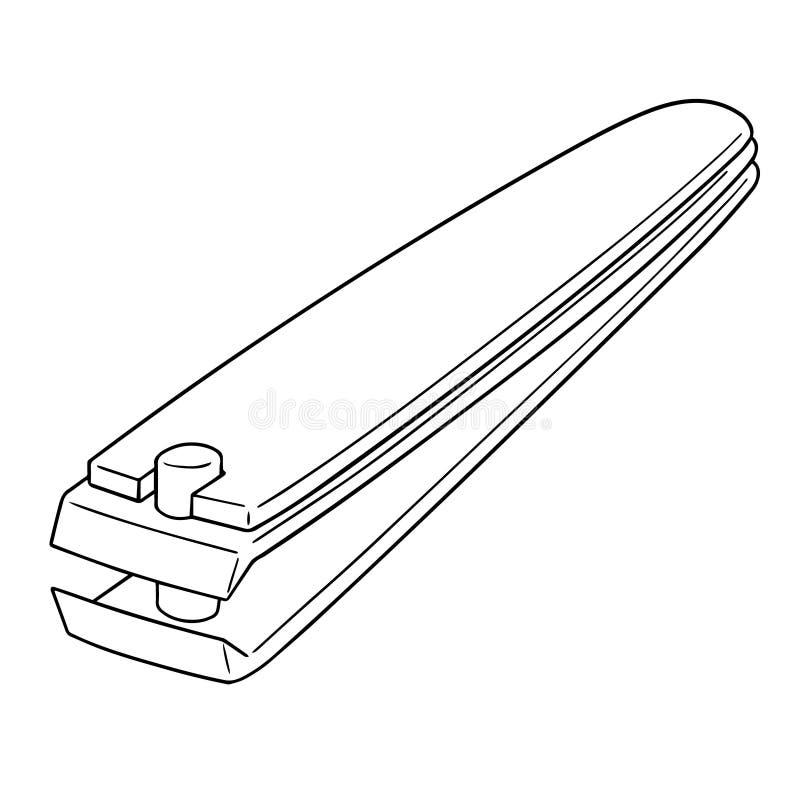 Vettore del tagliatore di chiodo illustrazione vettoriale
