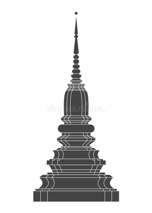 Vettore del tempio della Tailandia royalty illustrazione gratis