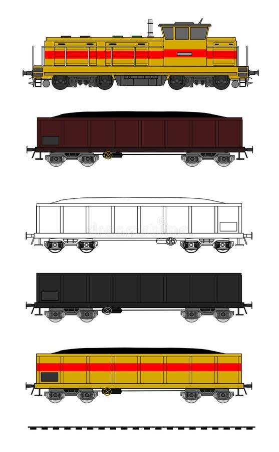 Vettore del treno del carbone illustrazione vettoriale