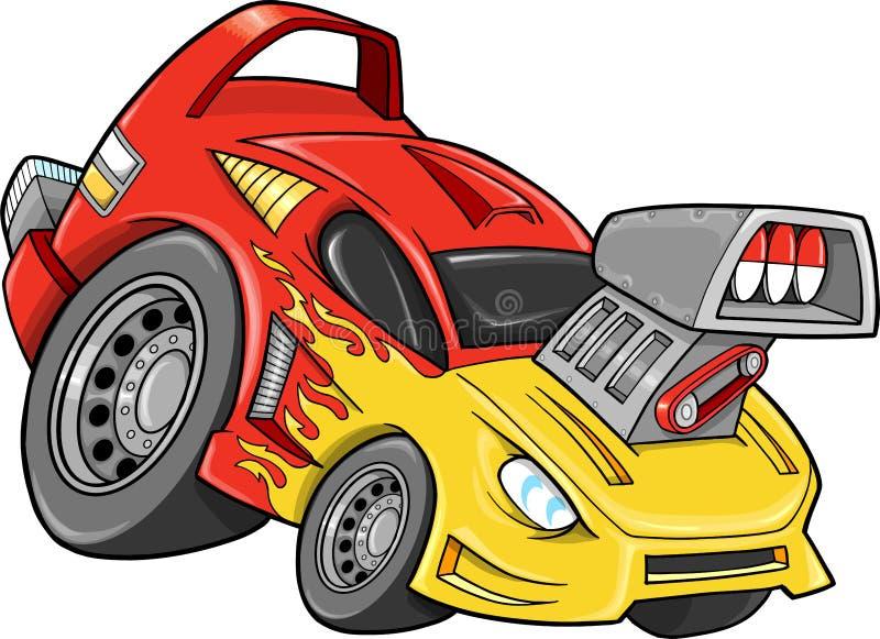 Vettore del veicolo dell'automobile della via della macchina da corsa illustrazione di stock