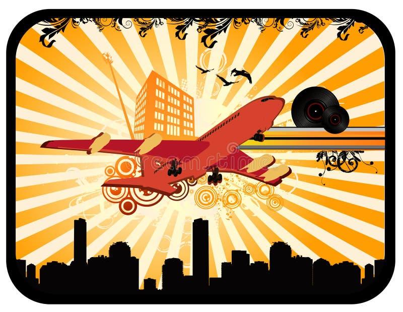 Vettore dell'aeroplano di Deco   illustrazione vettoriale
