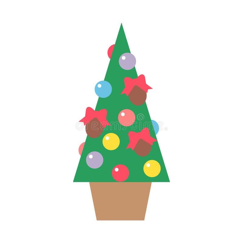 Vettore dell'albero di Natale royalty illustrazione gratis
