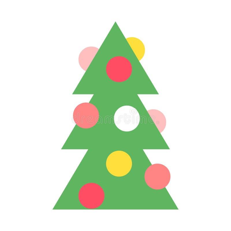 Vettore dell'albero di Natale illustrazione di stock