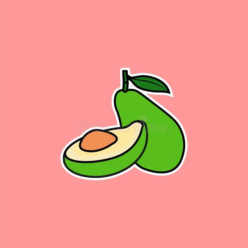 Vettore dell'avocado immagini stock libere da diritti
