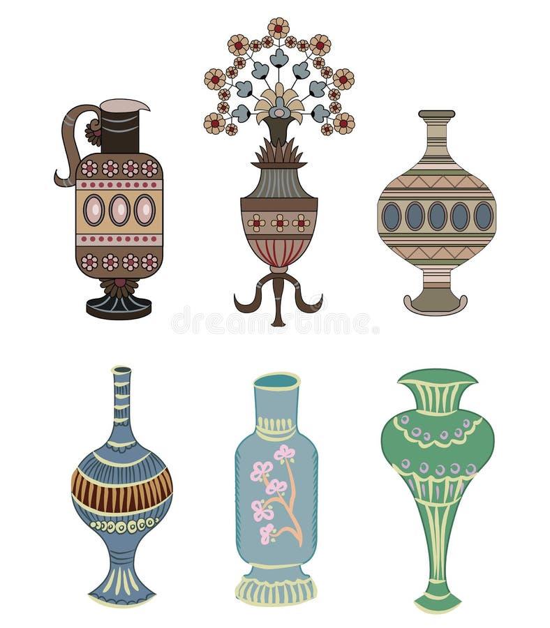 Vettore dell'elemento dell'ornamento del vaso royalty illustrazione gratis