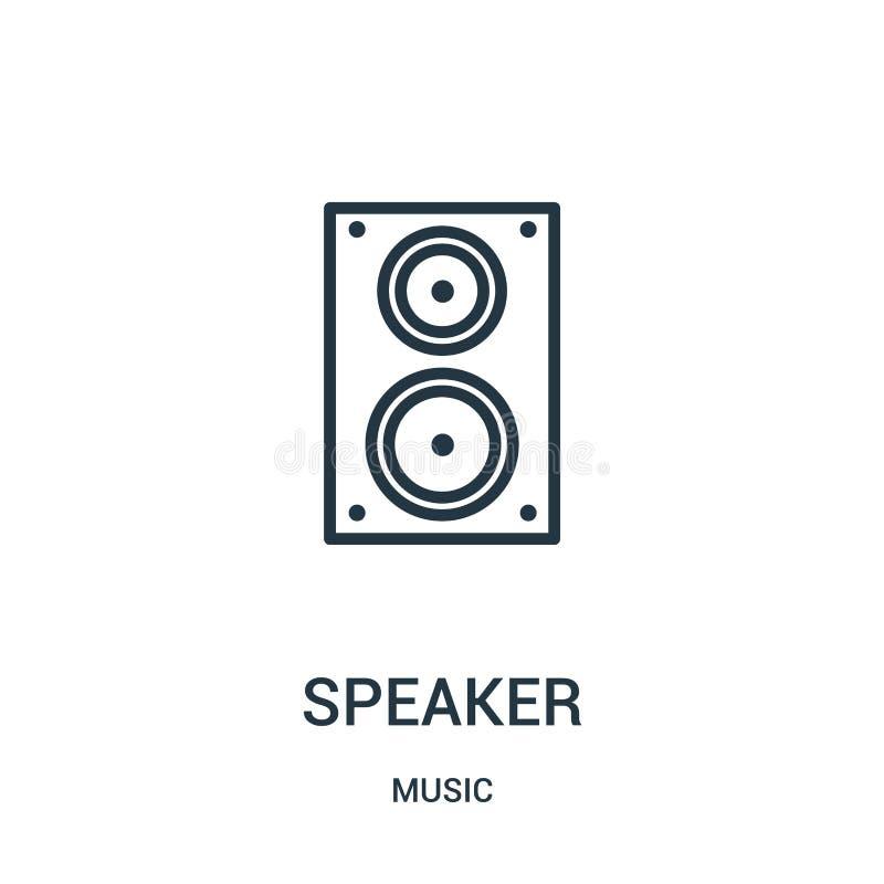 vettore dell'icona dell'altoparlante dalla raccolta di musica Linea sottile illustrazione di vettore dell'icona del profilo dell' royalty illustrazione gratis