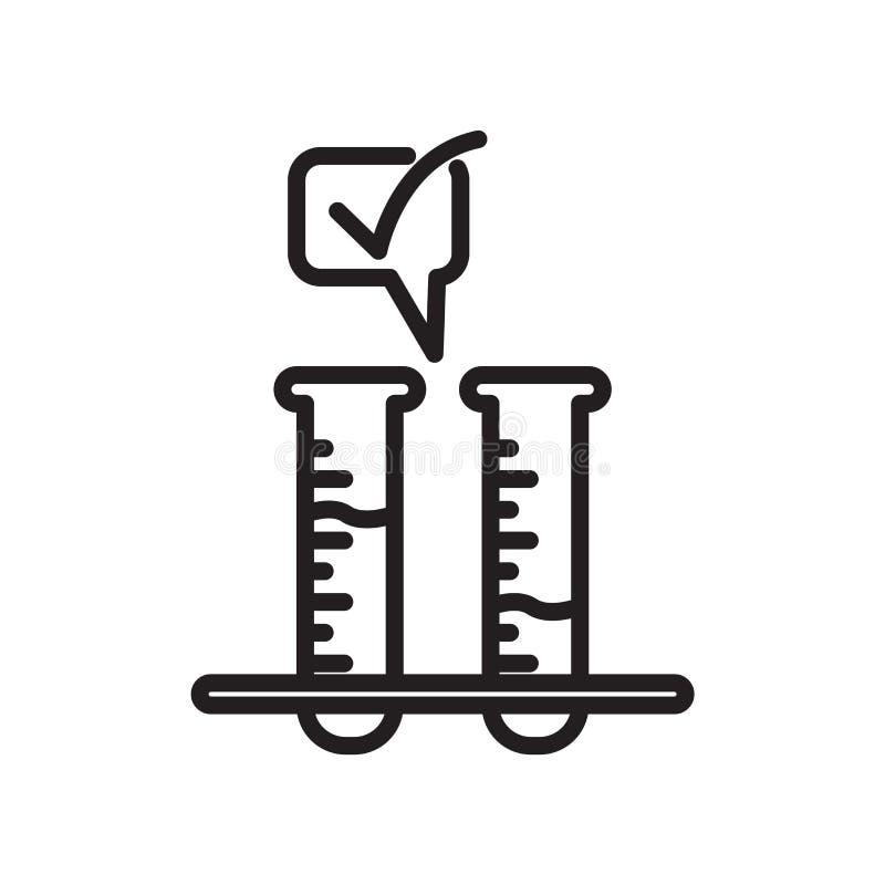 Vettore dell'icona dell'analisi del sangue isolato su fondo bianco, analisi del sangue illustrazione vettoriale